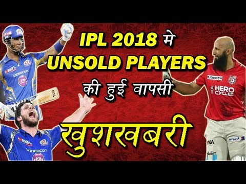IPL 2018 : List Of Unsold Players Who Might Return In IPL 2018 | IPL 2018 UNSOLD PLAYERS | IPL