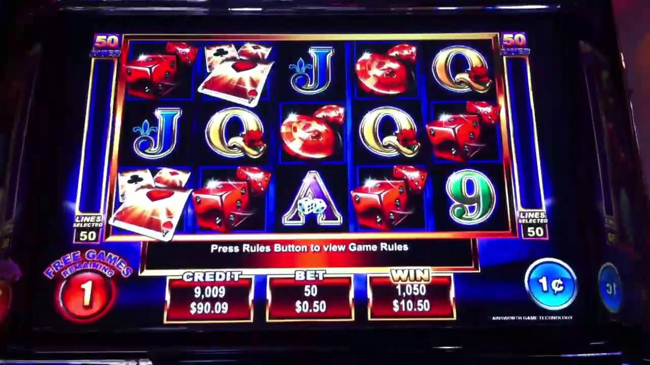 Action Cash Slot Machine Bonus Round Free Spins - YouTube
