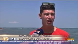 BOCCASETTE : MALORE IN SPIAGGIA, BAGNINO 18ENNE SALVA IL TURISTA