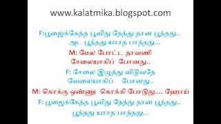 Poojaikketha Poovithu Tamil Karaoke Song For Male Singers