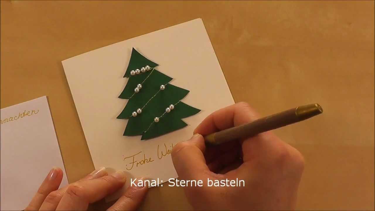 Weihnachtskarten basteln youtube for Karten gestalten kostenlos