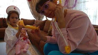Elif hemşire oldu .. Elife yeni hemşire kostümü , eğlenceli çocuk videosu