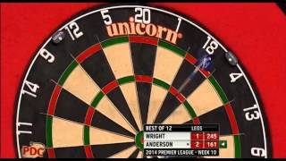 Wright v Anderson | Week 10 | Premier League Darts 2014