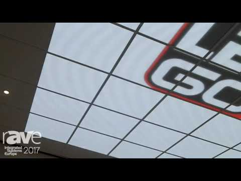 ISE 2017: LedGo Showcases LED Display in Ceiling Tiles