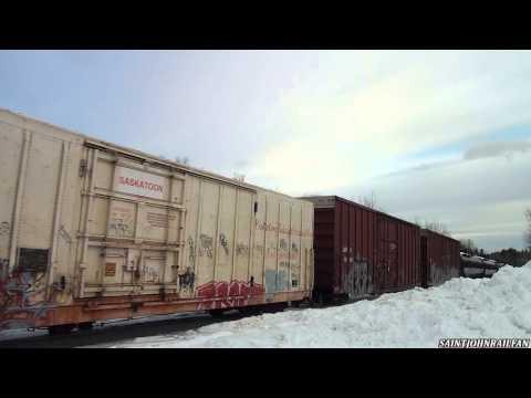 BNSF 989 West, Nearing Welsford, New Brunswick 03-01-2015