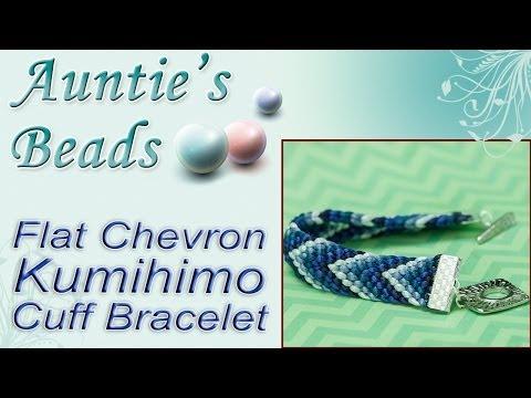 Chevron Cuff Kumihimo Bracelet - Kumihimo Episode 7