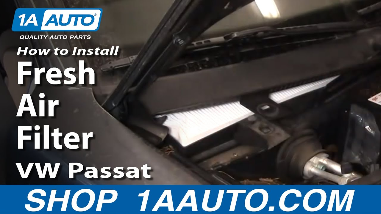 How to Install Replace Cabin Fresh Air Filter VW Passat 98 ...