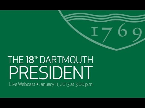 A Welcome Celebration for Dartmouth President-Elect Philip J. Hanlon '77