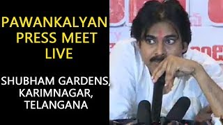 Pawan Kalyan Press Meet LIVE from Shubham Gardens, Karimnagar, Telan | Pawan