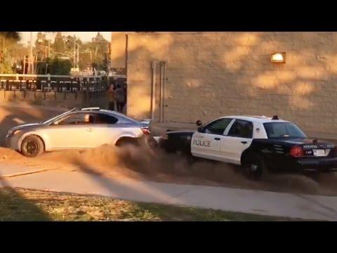 SKATE PARK POLICE CHASE CRASH!!!