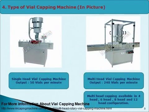 Selection guide for Vial capping machine - Pharmaceutical