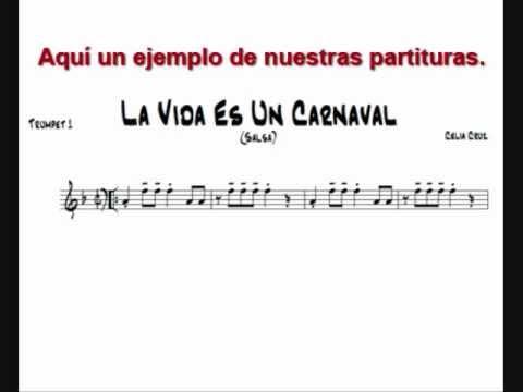 Celia Cruz La Vida Es Un Carnaval Partituras De Musica