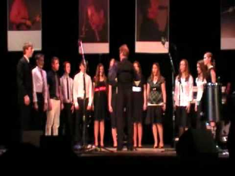 "Holy Cross Academy Choir sings ""Homeward Bound"" at The Elders concert in Rome - 1/29/11"