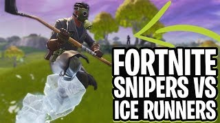 SNIPERS vs ICE RUNNERS MINI-GAME!  - Fortnite: Battle Royale Playground (Nederlands)