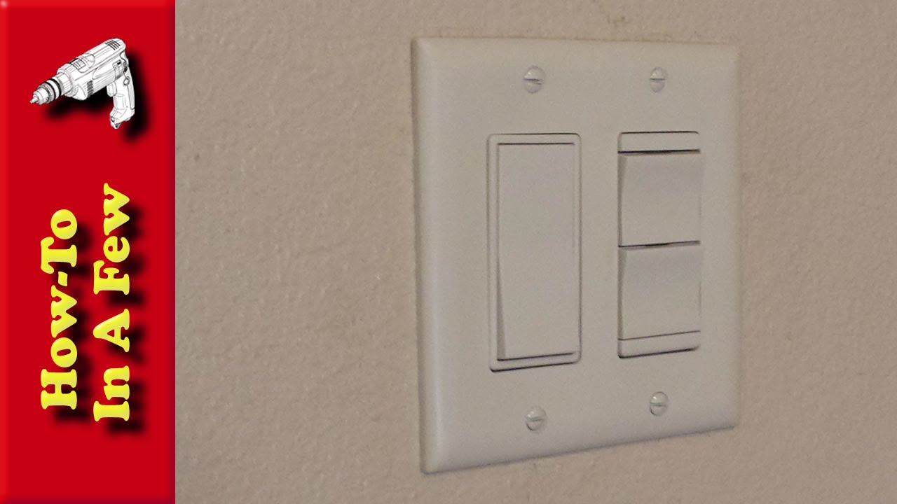 Bathroom light switch