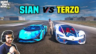GTA 5 : TECHNO GAMERZ LAMBORGHINI SIAN VS LAMBORGHINI TERZO 😍 | GTA V GAMEPLAY #48