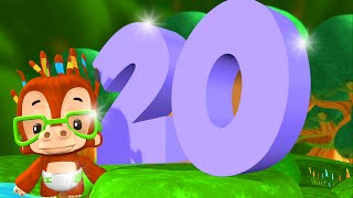 One to Twenty Number Song | Big Numbers Song | Kindergarten Song for Kids by Little Treehouse S01E12