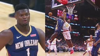 Zion Williamson Wanna Murder Damian Jones With Crazy Dunk In Pelicans Debut! Pelicans vs Hawks