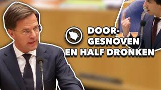 Mark Rutte laat Jesse Klaver alle hoeken van de Tweede Kamer zien