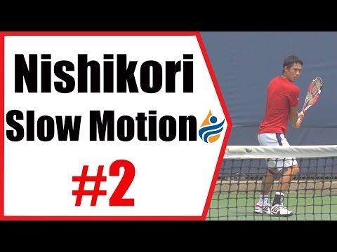Kei Nishikori Slow Motion Forehand, Backhand & Overheads 240FPS 1080p