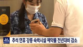 추석 연휴 강릉 숙박시설 예약률 전년대비 감소