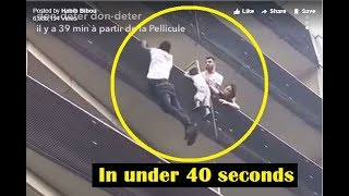 """Real-Life """"Spiderman"""" Climb A Building In Paris And Save A Dangling Child"""