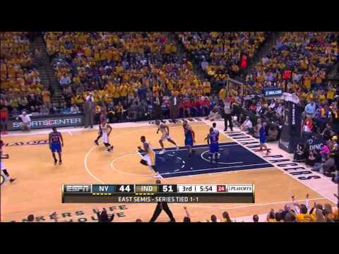Roy Hibbert 24 points vs New York Knicks full highlights (NBA Playoffs SF GM3) 05/11/2013 HD