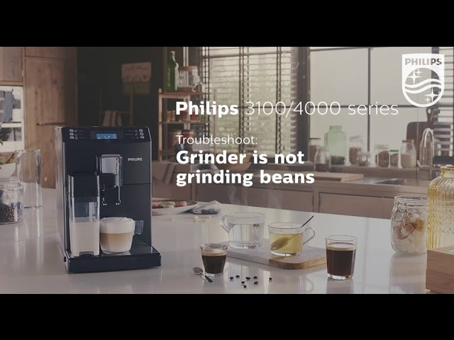 No beans are ground but the grinder of my Philips espresso machine is turning.