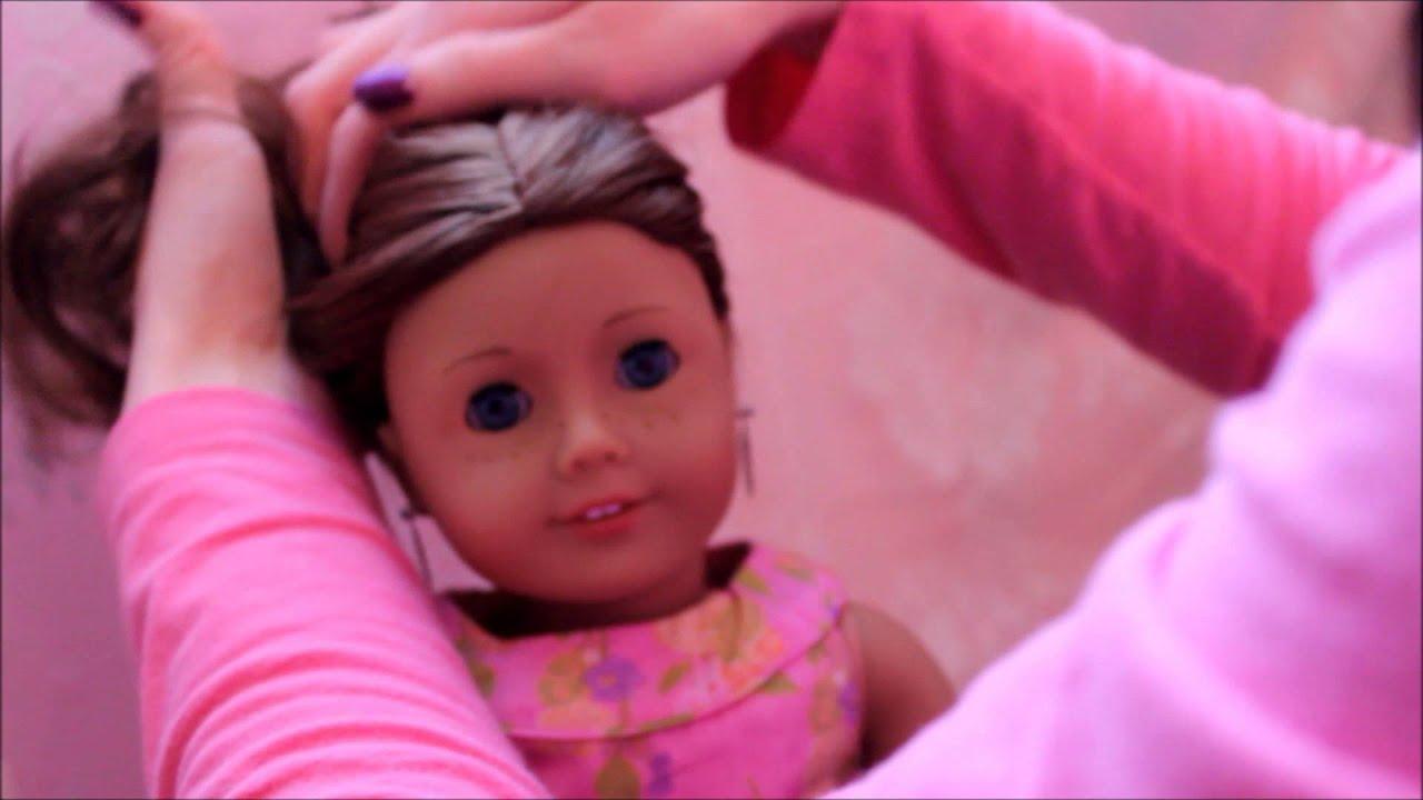 Прическа для куклы ютуб