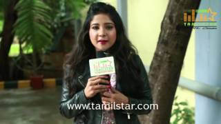 Sakshi Agarwal At Saveetha College For Aadhiyan Movie Promotion