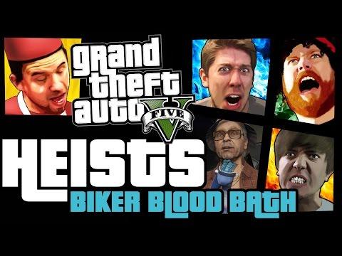 GTA 5 Online Heists: Biker Blood Bath! [PC]