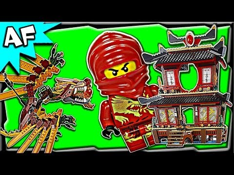 Lego Ninjago FIRE TEMPLE 2507 Stop Motion Set Review
