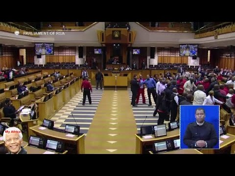 Julius Malema Forcefully Removed From Parliament By Police Again. SEE IT ALL