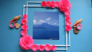 Make Awesome Photo Frame Out Of Newspaper Sticks. Diy-Newspaper Paper-Crafts. Wall decor frame #4