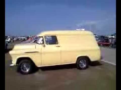 1956 Chevy panel van in Daytona - YouTube