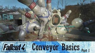 Fallout 4 Contraptions DLC Conveyor Belt Basics Part 1 | Tips and Tricks + Mini-Guide