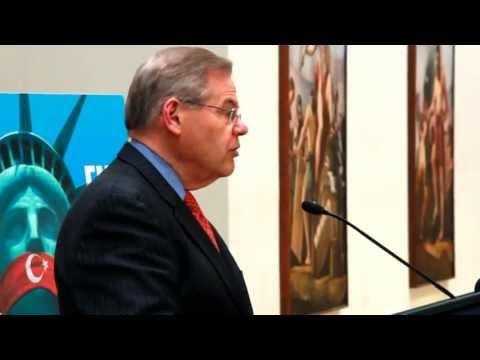 Sen. Robert Menendez (D-NJ) at the 2013 Capitol Hill Genocide Commemoration