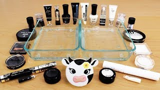 Black vs White - Mixing Makeup Eyeshadow Into Slime! Special Series 105 Satisfying Slime Video