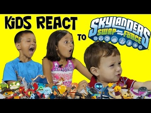 Kids React to Swap Force Characters & Kaos Combinations (Skylanders)