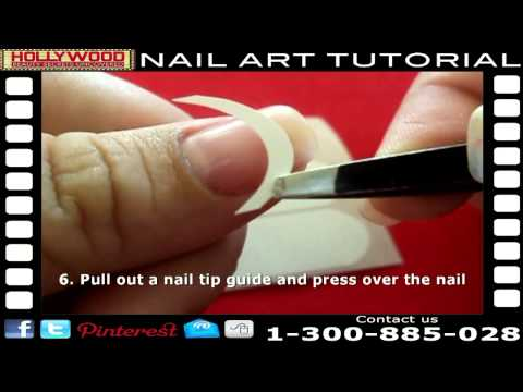 French Tip Manicure Tutorial - Perfect DIY French Manicure with Shellac or Gel Polish