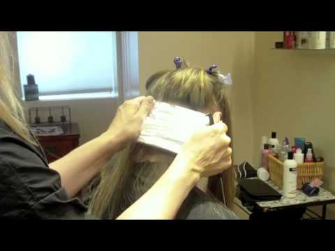 Full Head Of Blonde Highlights With Foils On Long Hair