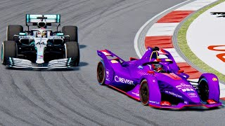 Mercedes F1 2019 vs Formula E 2019 - Chinese Grand Prix