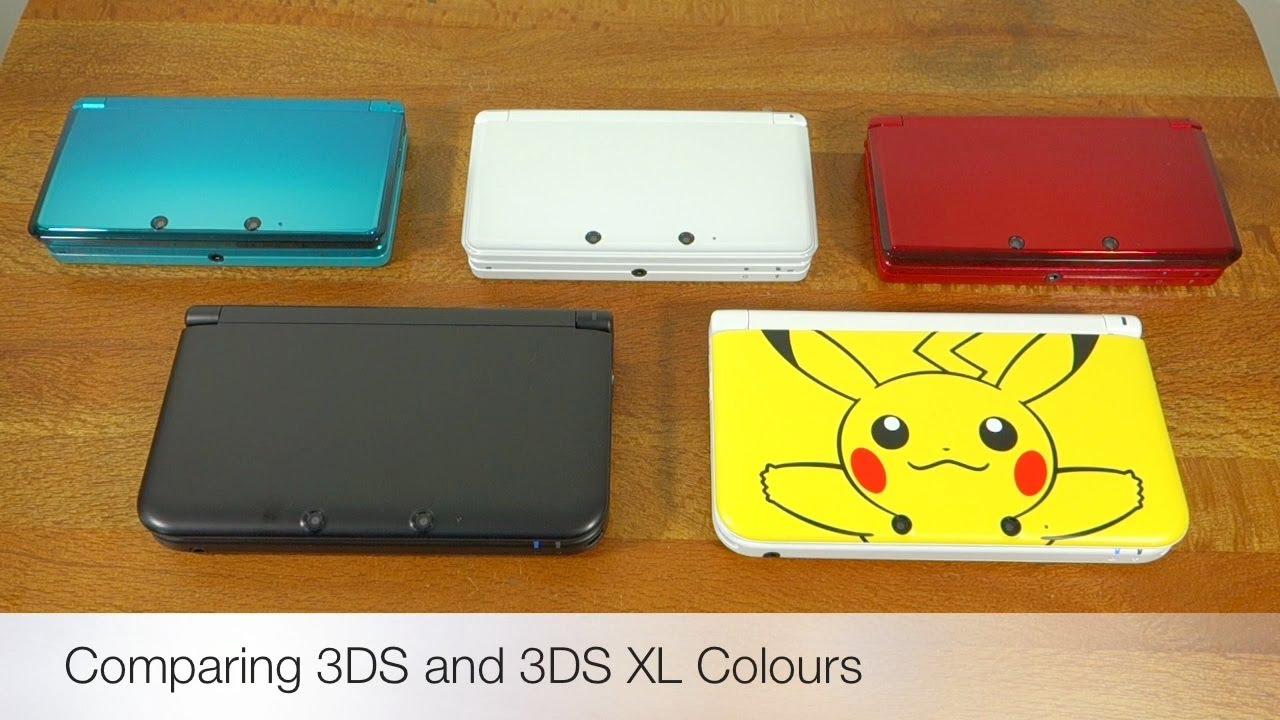 Nintendo 3ds Xl Colors : Nintendo ds and xl colour comparison youtube