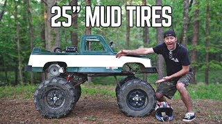 "Monster Truck Kart gets 25"" ATV Tires!"