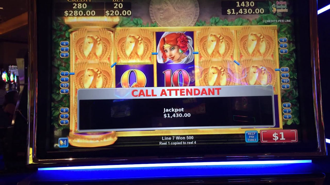 1$ slots hand pays on quarter