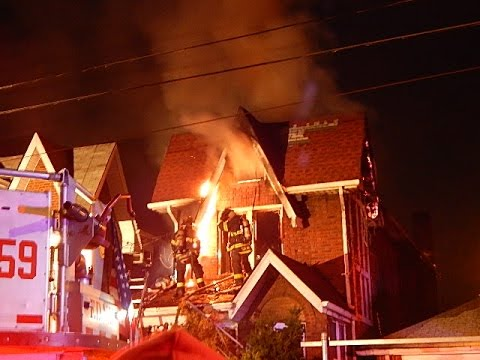 2 ALARM HOUSE FIRE COLEMAN STREET MARINE PARK, BROOKLYN