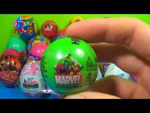 1 of 20 Kinder Surprise and Surprise eggs (SpongeBob Cars Hello Kitty TOY Story) MARVEL THOR  !