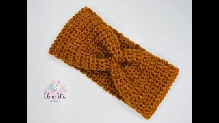 Crochet X-Twist Headband / Earwarmer / BEGINNER