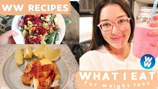 WHAT I EAT IN A DAY ON WW BLUE PLAN + WW RECIPES INCLUDED!