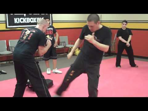 Sifu Bryan Thrust Kick to Hip Image 1